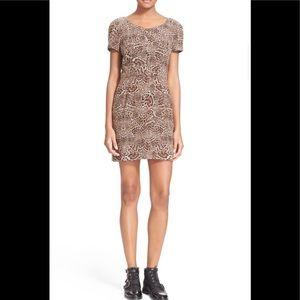 The Kooples silk leopard print dress XXS